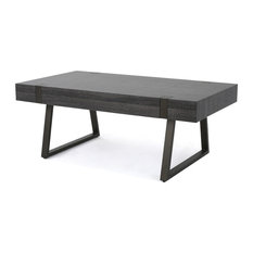 GDFStudio   Genwa Canyon Coffee Table, Black Oak   Coffee Tables