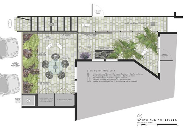 Contemporary Site And Landscape Plan by Matthew Cunningham Landscape Design LLC