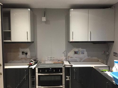 Kitchen Wall Unit: Pelmet Colour Dividing Opinion