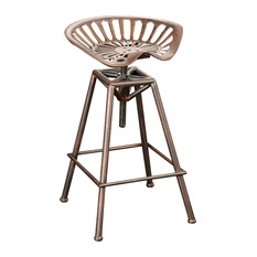 GDFStudio Charlie Bar Stool With Tractor Seat Bar Stools And Counter Stools