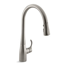 Kohler Simplice 1-Hole or 3-Hole Kitchen Sink Faucet, Vibrant Stainless