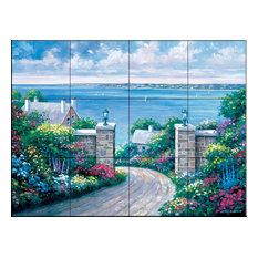 Tile Mural, Tranquility Bay, 43.2x32.4 cm