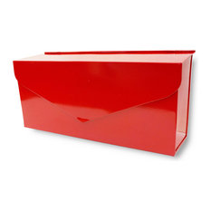 NACH Envelope Wall Mounted Mailbox, Red