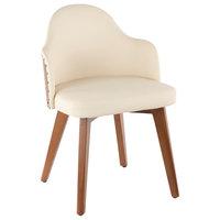Ahoy Mid Century Modern Chair CH-AHOY WL+CR, Cream