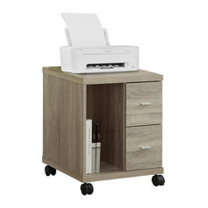 Monarch Specialties   Office Cabinet   Natural With 2 Drawers On Castors   Filing  Cabinets