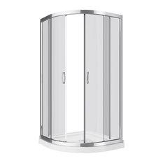 Mona-NW Neo Round Shower Enclosure Kit  With Acrylic Base Without Walls