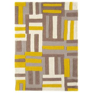 Matrix Code Rug, Yellow, 160x230 cm