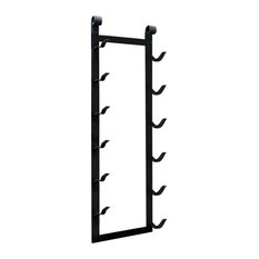 Le Rustique 6-Bottle Metal Wine Rack, Satin Black.