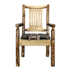 Montana Log Wood Chair With Upholstered Seat MWGCCASCNWOOD