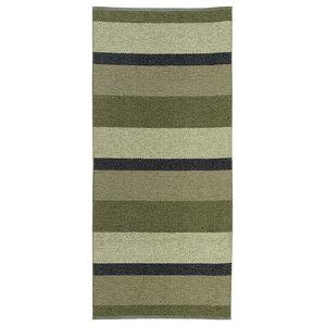 Block Woven Vinyl Floor Cloth, Olive, 150x200 cm