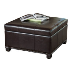 50 Most Popular Leather Tufted Ottoman For 2018 Houzz