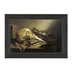 A Vanitas Still Life, 1645; Canvas Replica Framed Painting, Large