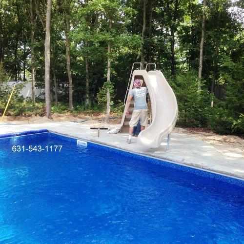 Outdoor pool with slide  Outdoor Pool With Slide Delighful Outdoor Amazing Large Blue ...