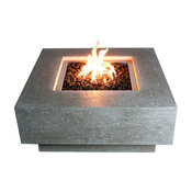 Manhattan Fire Pit Table, Chat Height