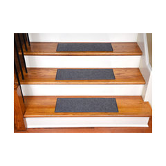 Indoor Or Outdoor Non Slip Carpet Stair Treads, Set Of 15, Gray