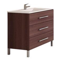 "TEGLER,SL - Holden Ribera Bathroom Vanity, Fresno Tea, 36"" - Bathroom Vanity Units & Sink Cabinets"