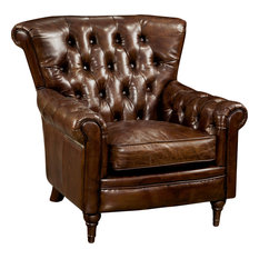 Charmant Moeu0027s Home Collection   New Castle Club Chair, Dark Brown   Armchairs And Accent  Chairs