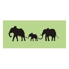 Alphabet Garden Designs Elephant Family Chalkboard Wall Decal