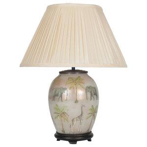 Jenny Worrall Oval Safari Table Lamp