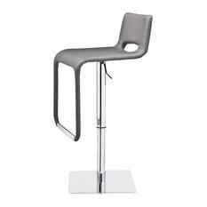 Azure Hydraulic Bar Stool, Gray