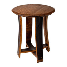 Barrel Top Accent Table