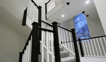 Black Stained Oak Staircase with Stop Chamfered Spindles
