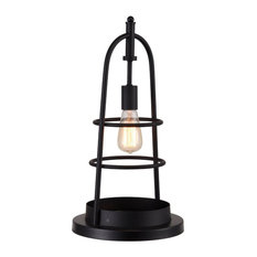 Moes Home Industrial Table Lamp With Black Finish WK-1003-02