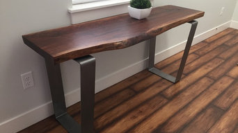 Live-Edge Walnut Console Table