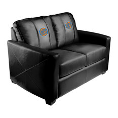 New York Knicks NBA Silver Love Seat With Secondary Logo Panel