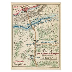 24x36 Vintage Reproduction Civil War Map Potomac River 1864