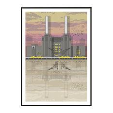 Battersea Power Station Sunset Giclée Print, A1