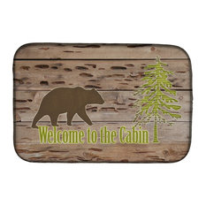 Welcome To the Cabin Dish Drying Mat