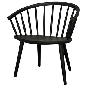 """28.5"""" Set of Two Dining Chair Exotic Sungkai Wood Round Charcoal Black 1848"""