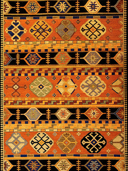 Shirvan (paprika/copper - Kazak design 3) - Rugs