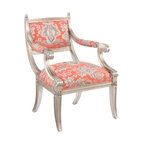 Constanza French Wood Armchair Traditional Armchairs