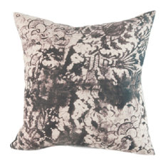 "Lace Granite Hand-Printed Linen Pillow, 18""x18"", Case Only: No Insert"