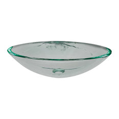Legion Furniture Tempered Glass Vessel Sink, Clear Tempered