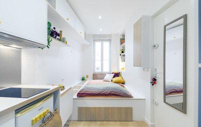 Ohne rechten Winkel: Eine 9-Quadratmeter-Wohnung wird optimiert