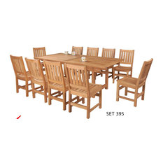 "11-piece set. 10 Balboa chairs with 39x77-97-117"" rectangular extension table"
