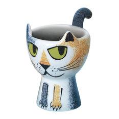 Cat Egg Cup, Tortoiseshell