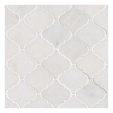 tilesbay grecian white arabesque pattern polished mosaic sample mosaic tile