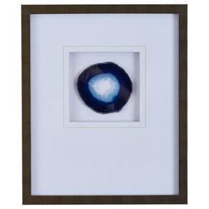 Framed Agate Stone , Blue