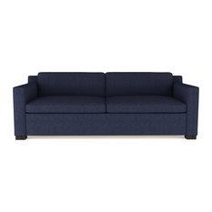Tandem Arbor - Mercer 6' Velvet Sofa, Blue Print Classic Depth - Sofas