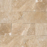 Tilesbay - Honed Tuscany Ivory Travertine Tile, 25 Sq. ft. - Tuscany Ivory 3x6 Honed/Beveled travertine mosaic are beige and cream tone on tone with medium variation. They are available in a variety of tiles and moldings and recommended for walls, flooring, and backsplashes in both residential and commercial properties.
