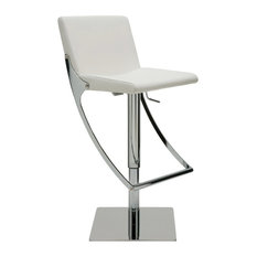 Swing Adjustable Barstool by Nuevo Living, White