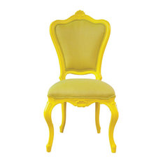 AyC Internacional   French Victorian Style Outdoor Chair, Soleil Yellow    Outdoor Lounge Chairs