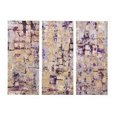 Madison Park Gel Coat Printed Canvas 3 Piece Set in Purple Finish MP95C-0002