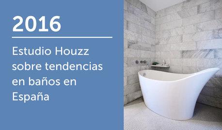 Estudio Houzz sobre tendencias en baños en España 2016
