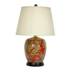"""21"""" Floral Bouquet Jar Lamp"""