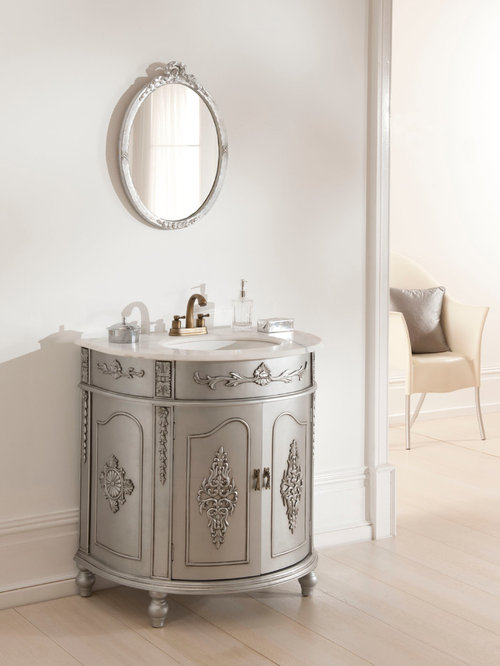 Silver Antique French Vanity Unit - Bathroom Vanities And Sink Consoles